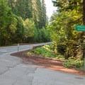 A subtle turn from Highway 126.- Carmen Diversion Reservoir