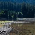 Low water levels at Carmen Reservoir.- Carmen Diversion Reservoir