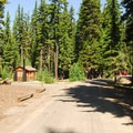 Islet Campground.- Waldo Lake, Islet Campground