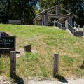 A small interpretive area near the entrance to Captain William Clark Park.- Captain William Clark Park at Cottonwood Beach
