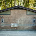 Restrooms and showers at Captain William Clark Park.- Captain William Clark Park at Cottonwood Beach