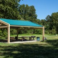 Day use areas at Captain William Clark Park.- Captain William Clark Park at Cottonwood Beach