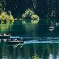 Rowboats on Clear Lake.- Clear Lake