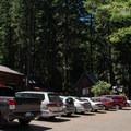 Parking at Clear Lake Resort.- Clear Lake