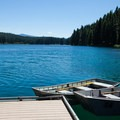 Row boats for rent at Clear Lake Resort.- Clear Lake