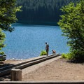 An alternate, much less crowded boat ramp at Cold Water Cove Campground.- Clear Lake