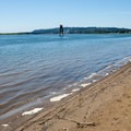 Looking downstream from Cottonwood Beach.- Columbia River: Reed Island Channel