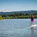 The entire paddle keeps Mount Hood (11,250') on the horizon.- Columbia River: Reed Island Channel