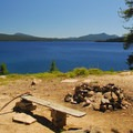 Backcountry campsite along Waldo Lake's northern shore.- Waldo + Rigdon Lakes Hike
