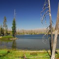 View of Lake Kiwa.- Waldo + Rigdon Lakes Hike