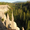 The Pinnacles at sunrise.- Crater Lake National Park