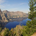 Crater Lake from the viewpoint near Sentinel Rock.- Crater Lake National Park