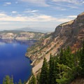 View north from Pumic Castle overlook in Crater Lake National Park.- Crater Lake National Park