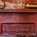 A mantel in the Dispacher's Cabin.- Fish Lake Remount Depot