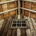 Vertical log construction at Hall House.- Fish Lake Remount Depot