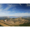 Panoramic view of Crater Lake National Park from Mount Scott's summit.- Mount Scott