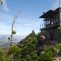 Mount Scott's summit and lookout tower.- Mount Scott