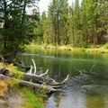 The Deschutes River from the day use area.- LaPine State Park