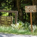 The turn off of Highway 22 for House Rock Campground.- House Rock Campground