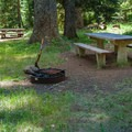 Typical site.- Lost Prairie Campground