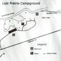 Lost Prairie Campground map.- Lost Prairie Campground