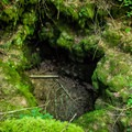 A natural hole in the vacant riverbed.- McKenzie River Trail