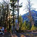 Basecamp at Green Lakes.- Broken Top