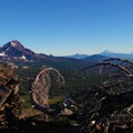 View north of the neighboring cascades.- Broken Top