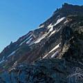 Looking up towards Broken Top's summit.- Broken Top