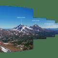 The Cascade Peaks from Broken Top.- Broken Top