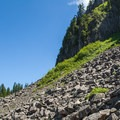 The boulder field below Table Rock.- Table Rock