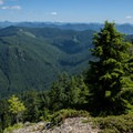 Mount Jefferson (10,495') at left with the Table Rock Wilderness in the foreground.- Table Rock