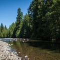 The Molalla River downstream from Three Bears Recreation Site.- Three Bears Recreation Site