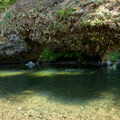 The small swimming hole at Three Bears Recreation Site.- Three Bears Recreation Site