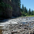 Looking upriver from Three Bears Recreation Site.- Three Bears Recreation Site
