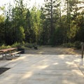 Campsite 124, fully ADA accessible.- LaPine State Park Campground