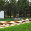 The amphitheater at LaPine State Park Campground.- LaPine State Park Campground