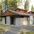 Restrooms and a small store in the Middle Loop.- LaPine State Park Campground