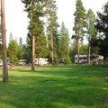 Lawn in the Middle Loop.- LaPine State Park Campground