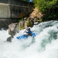 A smooth line over Husum Falls...not bad for Graham's first run over the drop.- Middle White Salmon River