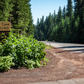 The entrance to Cold Water Cove Campground.- Cold Water Cove Campground