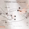Cold Water Cove Campground map.- Cold Water Cove Campground