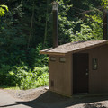 Vault toilets at Cold Water Cove Campground.- Cold Water Cove Campground