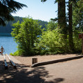 The boat ramp at Cold Water Cove.- Cold Water Cove Campground
