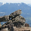 A playful rock formation at Haystack Basin.- Mount Si Hike