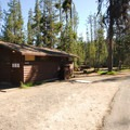Restroom and shower facilities.- Mazama Village Campground