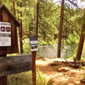 The West Metolius Trailhead.- Metolius River Trail West