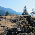 Atop the highest rocks on the peninsula.- Government Cove Peninsula