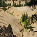 Looking out toward Annie Creek Canyon.- Godfrey Glen Loop Trail