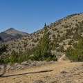 Headed out to the loop around Gray Butte (visible in the background).- Gray Butte Loop via Burma Road
